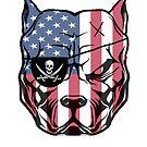 American Pitbull Dog by danskflowers