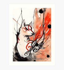 OKAMI AMATERASU Art Print
