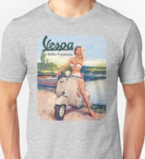 Camiseta ajustada Vespa Girl Pin-Up