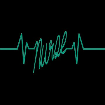 Nurse Heartbeat Shirt Doctor Doctor Pharmacist Job Heartbeat with Heart Gift Idea by MrTStyle
