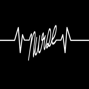Nurse Heartbeat Shirt Doctor Doctor Pharmacist Job Heartbeat Gift Idea by MrTStyle