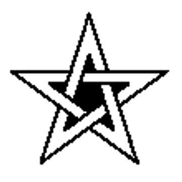Celtic - Pentagram. (pixelated!) by timothybeighton