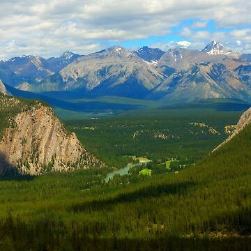 The Rocky Mountains on a sunny spring day by josefpittner