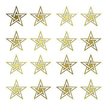 Celtic - Multiple Pentagrams, Golden. (pixelated!) by timothybeighton