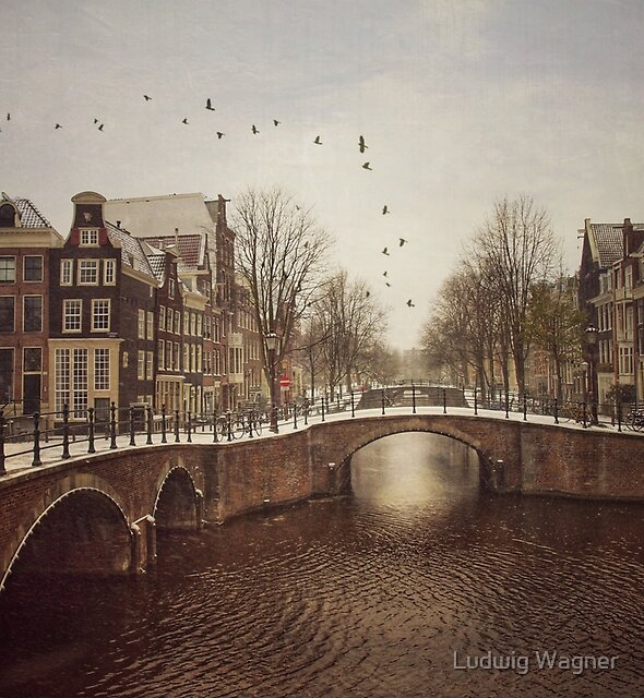 Amsterdam in Winter by Ludwig Wagner