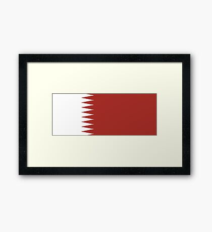 Qatar, national id Framed Print
