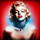 Marilyn Monroe. Red white Blue by Cliff Vestergaard