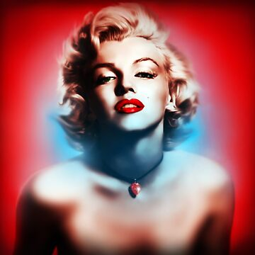 Marilyn Monroe. Red white Blue by Cliff