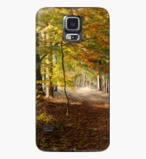Path through autumn forest Case/Skin for Samsung Galaxy