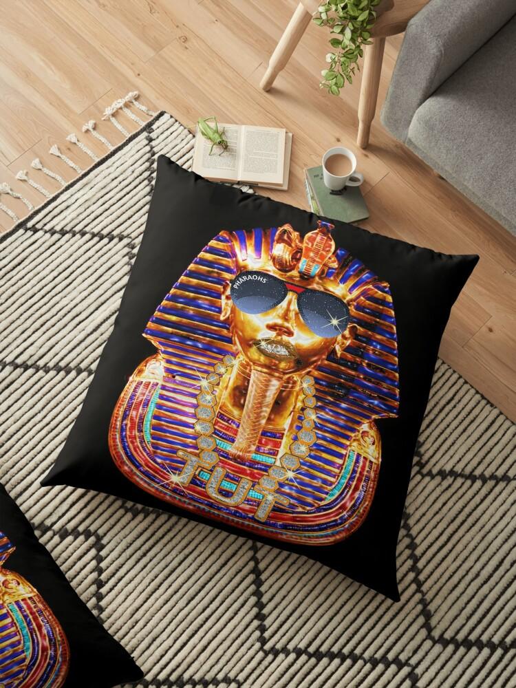 'Hip Hop King Tut Egyptian Pharaoh Ancient Egypt' Floor Pillow by Rahimseven