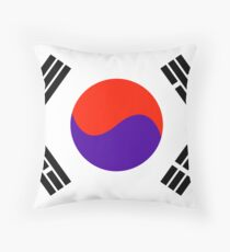 South Korea, national id Throw Pillow