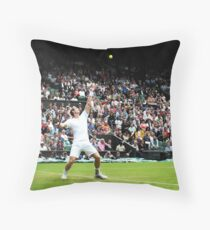 Andy Murray @ Wimbledon Throw Pillow