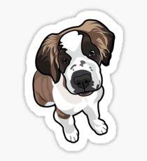 St Bernard Puppy Sticker