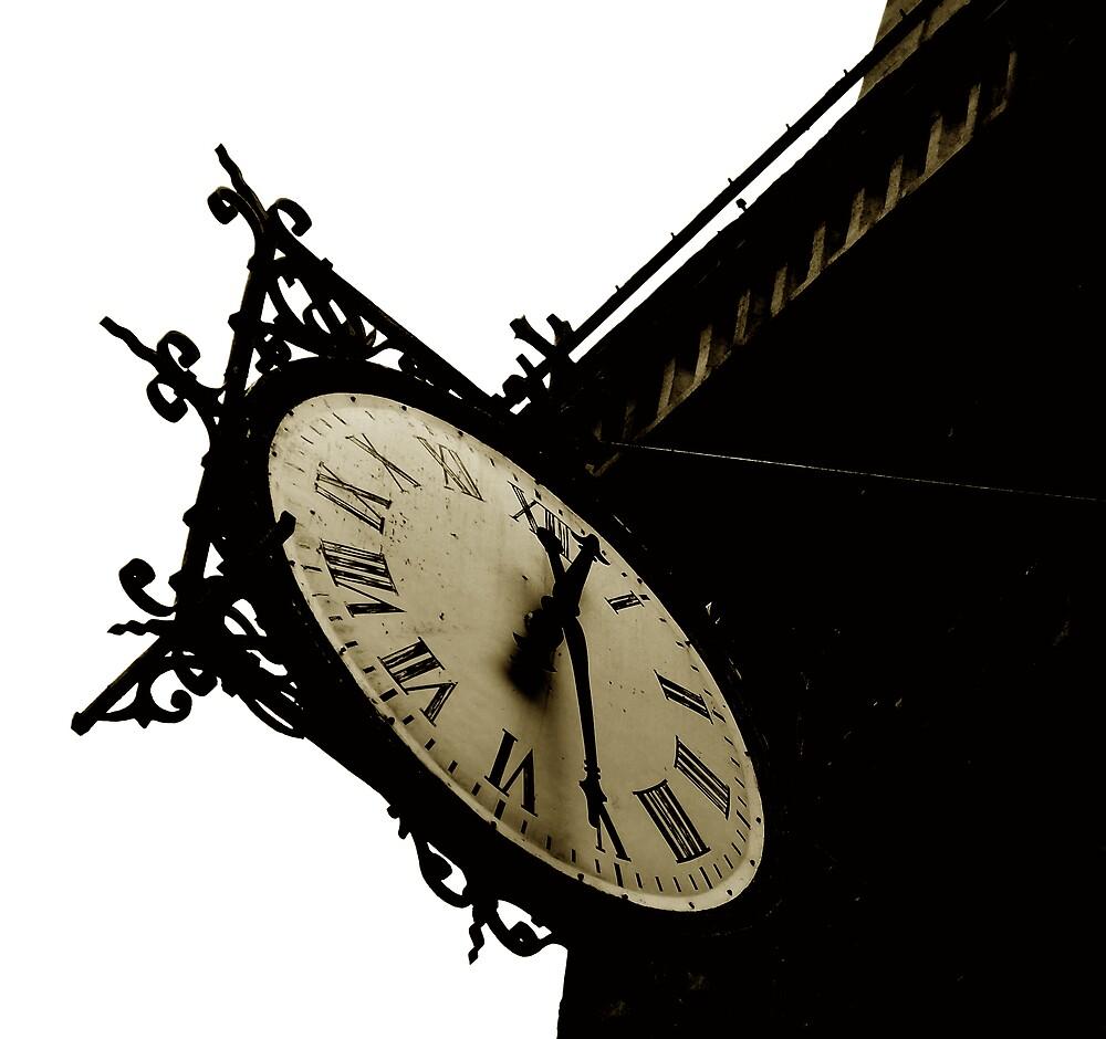 clock of St Louis en l'Ile Church #1 by ragman