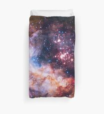 Westerlund 2 — Hubble's 25th Anniversary Image (Color Enhanced) Duvet Cover