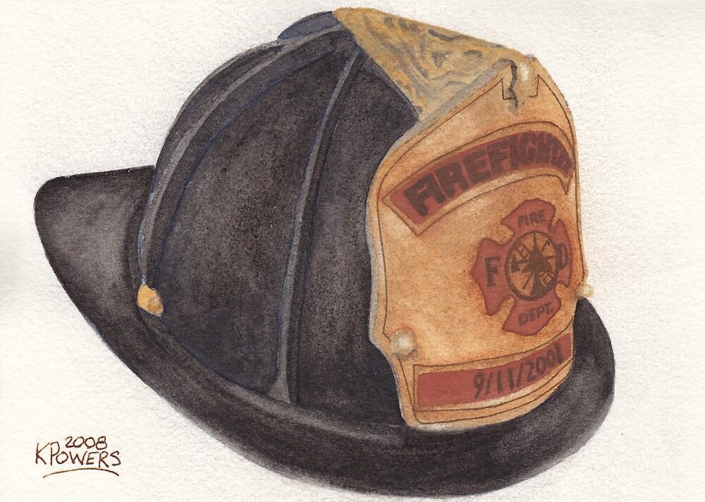 9-11 Fire Fighter Helmet by Ken Powers