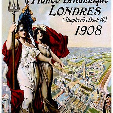EXPOSITION : Vintage 1908 Franco-Britannique Londres Print by posterbobs