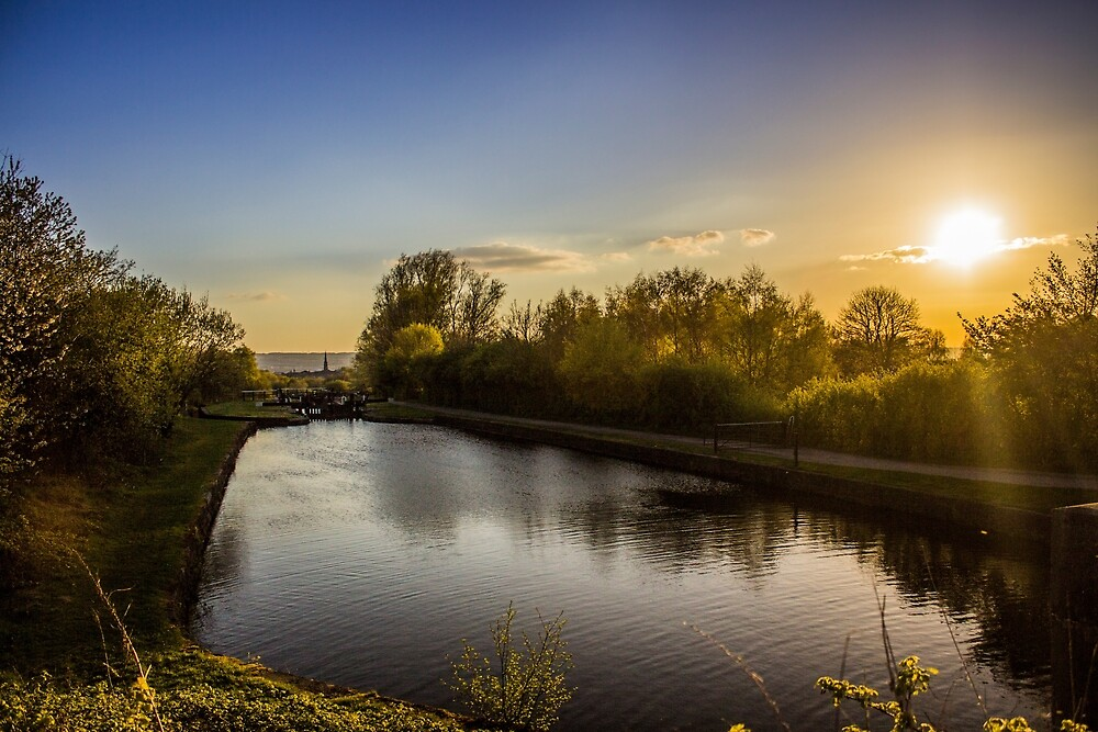 Sunset over the canal by Paul Madden