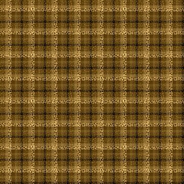 Bubbly Brown Tartan Pattern by MarkUK97