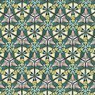 «Patrón de caleidoscopio de árbol de plátano» de Johanna-Draws