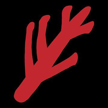 Lovecraftian Elder Sign - Red by MOREDANKMEMES