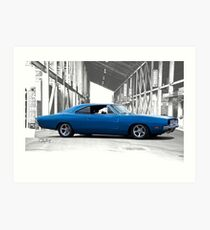 1969 Dodge Charger RT 'American Muscle' Art Print