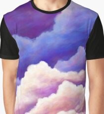 Dreamy Clouds in Blue Pink and Purple Graphic T-Shirt