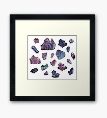 Amethyst minerals set Framed Print