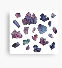 Amethyst minerals set Canvas Print