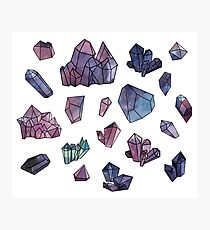 Amethyst minerals set Photographic Print