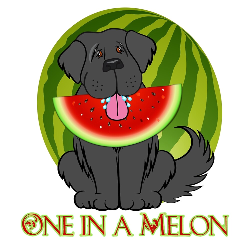 Watermelon Newfie by Christine Mullis