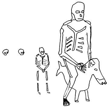 skeleton on Donkey Fish by defuma