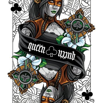 Queen of Clubs by pavelomg