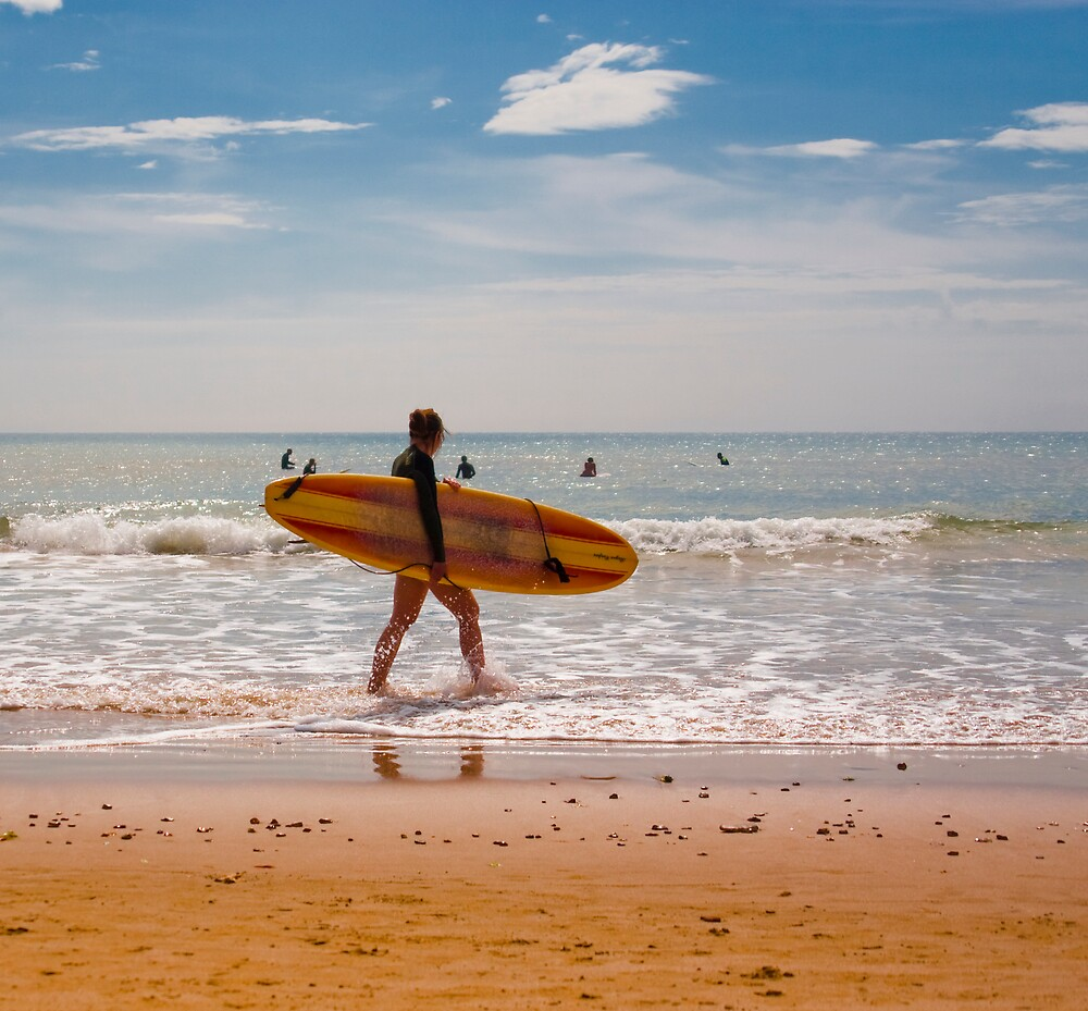 Female Surfer by DavidYates