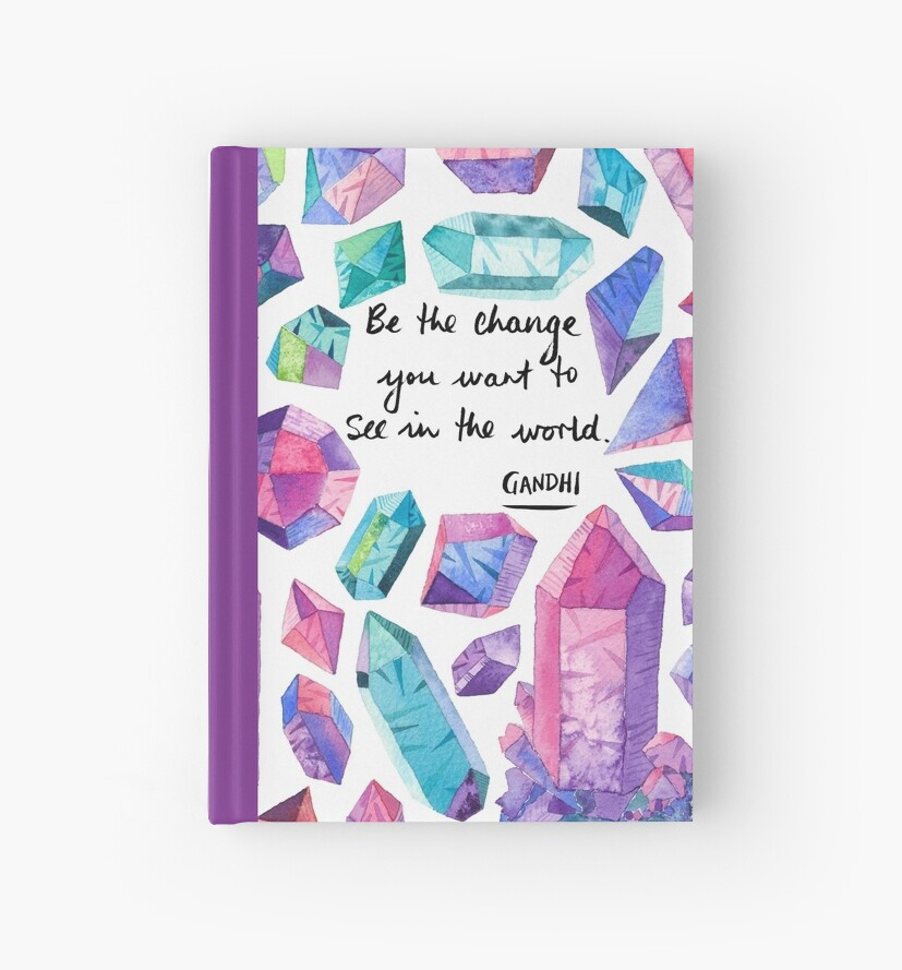Gandhi Quote - Be the change - crystals by MermaidsCoin