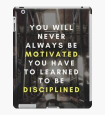 Motivated vs Disciplined iPad Case/Skin