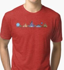 Meet me at my Happy Place Vector Orlando Theme Park Illustration Design Tri-blend T-Shirt