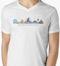 Meet me at my Happy Place Vector Orlando Theme Park Illustration Design Men's V-Neck T-Shirt