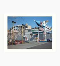 Coney Island Astroland Art Print