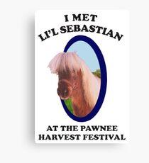 I met Lil Sebastian  Canvas Print