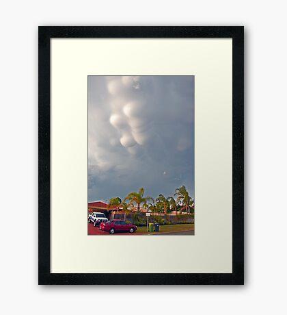 Mammatus clouds  Framed Print