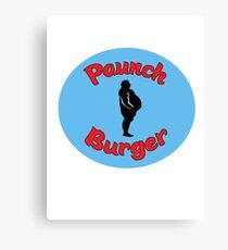 Paunch Burger Logo Parks and Recreation Canvas Print