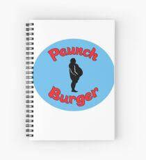 Paunch Burger Logo Parks and Recreation Spiral Notebook
