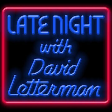 LATE NIGHT WITH DAVID LETTERMAN (1982 NEON LOGO) by discochicken