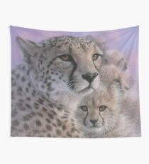 "Cheetah ""Mother's Love"" Wall Tapestry"