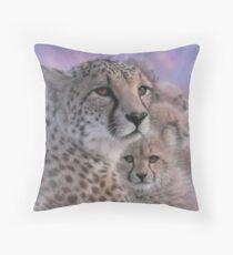 "Cheetah ""Mother's Love"" Throw Pillow"