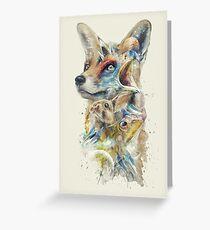 Heroes of Lylat Starfox Inspired Classy Geek Painting Greeting Card