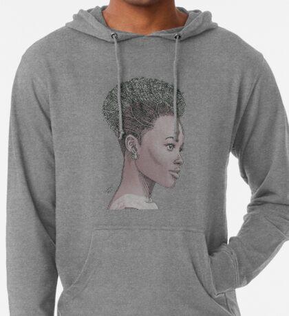 Lupita ink drawing Afro princess Lightweight Hoodie