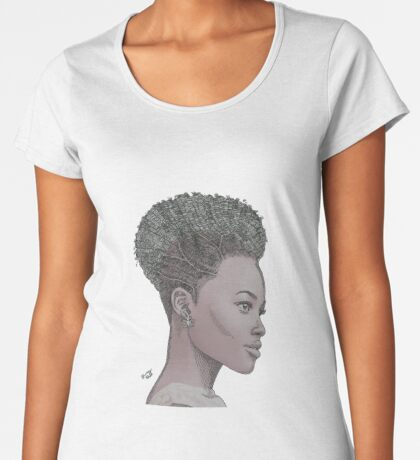 Lupita ink drawing Afro princess Premium Scoop T-Shirt