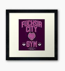 Fuchsia City Gym Framed Print